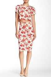 Donna Mizani Printed Midi Skirt Multi