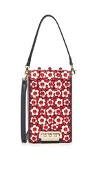Zac Posen Floral Earthette Party Bag Navy Multi