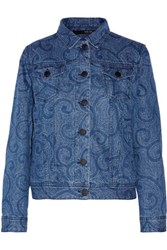 Sibling Printed Denim Jacket Mid Denim