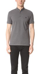 The Kooples Band Collar Polo Grey