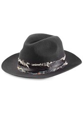Zadig And Voltaire Alabama Wool Hat With Feathers Black