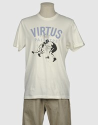 Virtus Palestre Topwear Short Sleeve T Shirts Men Ivory
