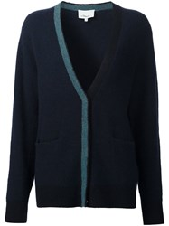 3.1 Phillip Lim Contrast Trim Cardigan Blue
