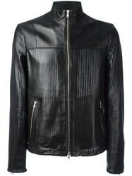 Diesel Black Gold Perforated Jacket Black
