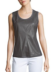 Bcbgmaxazria Jett Knit Sleeveless Top Dark Grey