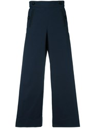 Sacai Pleated Insert Trousers Blue