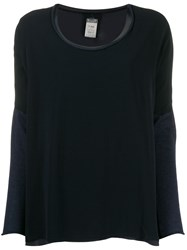 Kristensen Du Nord Two Tone Knitted Top Blue