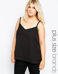 New Look Inspire Double Strap Cami Black