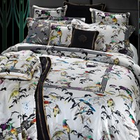 Roberto Cavalli Bird Ramage Duvet Set Super King White