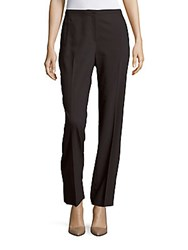 T Tahari Diamond Solid Straight Fit Pants Dark Grey