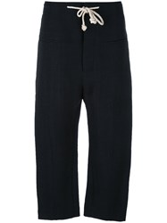 Joseph Rope Belt Cropped Trousers Blue