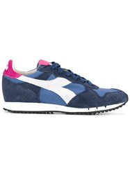 Diadora Trident Sneakers Women Cotton Leather Rubber 5 Blue