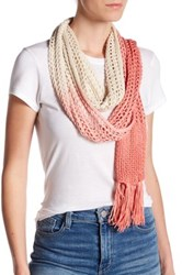 Collection Xiix Ombre Knit Slimmy Scarf Orange