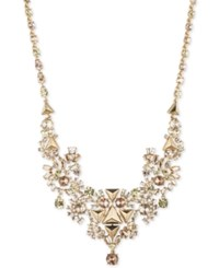 Givenchy Gold Tone Silky Crystal Fancy Collar Necklace