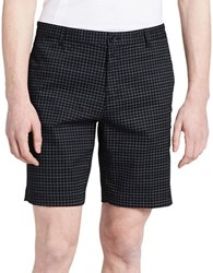 Calvin Klein Checkered Shorts Black