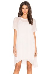 Lacausa Factory Mini Dress With Racer Slip Ivory