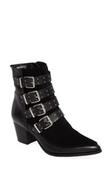 Topshop Women's Merlin Buckle Bootie Black