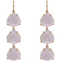 Irene Neuwirth Women's Gemstone Triple Drop Earrings No Color
