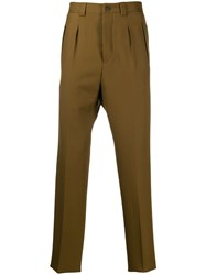 Givenchy Straight Leg Tailored Trousers Brown