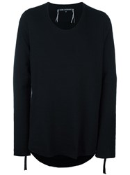 Cedric Jacquemyn Round Neck Oversized Jumper Black