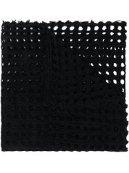 Faliero Sarti Perforated Scarf Black