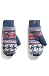 The North Face Fair Isle Mittens Blue Wing Teal Multi