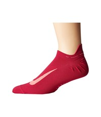 Nike Elite Running Lightweight No Show Sport Fuchsia Racer Pink No Show Socks Shoes Red