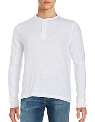 Brooks Brothers Long Sleeve Henley Tee White