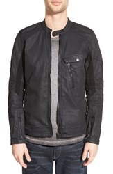 G Star Men's G Star Raw 'Revend' Coated Denim Moto Jacket