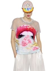 Manish Arora Embellished Crepe And Organza Top Multi