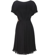 Jason Wu Lace Trimmed Silk Dress Black