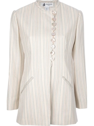 Lanvin Vintage Striped Skirt Suit Nude And Neutrals