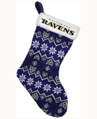 Forever Collectibles Baltimore Ravens Ugly Sweater Knit Team Stocking Black