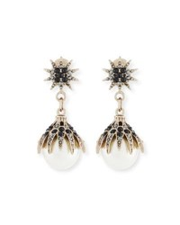 Lulu Frost Paloma Pearly Statement Earrings Gold
