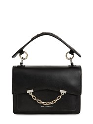 Karl Lagerfeld Seven Small Faux Leather Bag Black