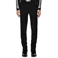 Saint Laurent Wool Twill Flat Front Trousers Black