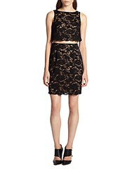 Bailey 44 Desert Moon Cutout Waist Lace Dress Black