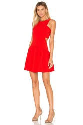 Endless Rose Woven Sleeveless Fit And Flare Dress Red