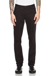Maison Kitsune Maison Kitsune Slim Cut Casual Cotton Pant In Black