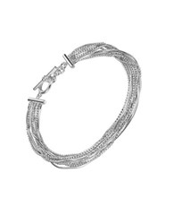Lord And Taylor Liquid Strands Toggle Bracelet Silver