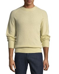 Tom Ford Super Soft Wool Blend Crewneck Sweater Light Yellow