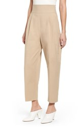 Topshop Lace Back Trousers Camel