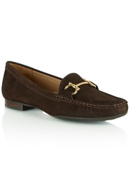 Daniel Generous Suede Slip On Moccasins Brown