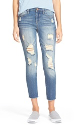 Fire Destroyed Crop Skinny Jeans Heartthrob Wash
