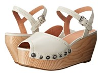 Sigerson Morrison Cailey Off White Leather Women's Wedge Shoes Beige