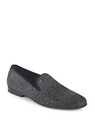 Galliano Glitter Smoking Slippers Grey