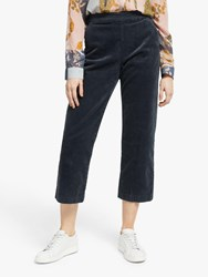 Numph Meghano Cord Cropped Trousers Ombre Blue