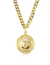 Kenzo Gilt Tiger Cyclop Necklace Gold