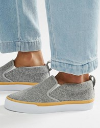 Asos Dynamic Slip On Trainers Grey