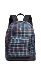 Opening Ceremony Plaid Backpack Navy